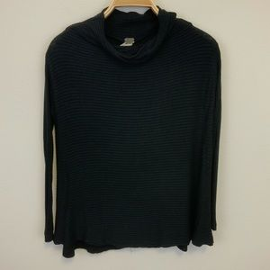 We The Free Black Cowl Neck Split Back Sweater XS